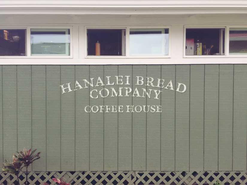 On the side of a building: Hanalei Bread Company